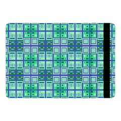 Mod Blue Green Square Pattern Apple Ipad 9 7