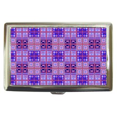 Mod Purple Pink Orange Squares Pattern Cigarette Money Case by BrightVibesDesign
