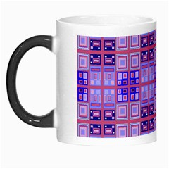 Mod Purple Pink Orange Squares Pattern Morph Mugs