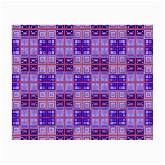 Mod Purple Pink Orange Squares Pattern Small Glasses Cloth