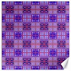 Mod Purple Pink Orange Squares Pattern Canvas 12  X 12