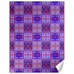 Mod Purple Pink Orange Squares Pattern Canvas 12  X 16