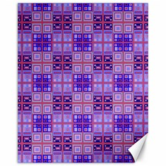 Mod Purple Pink Orange Squares Pattern Canvas 16  X 20