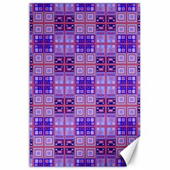 Mod Purple Pink Orange Squares Pattern Canvas 20  X 30