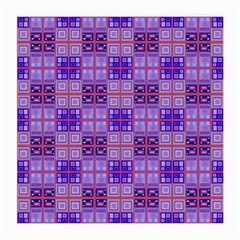 Mod Purple Pink Orange Squares Pattern Medium Glasses Cloth