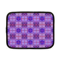 Mod Purple Pink Orange Squares Pattern Netbook Case (small)