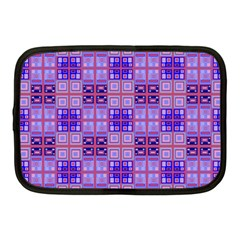 Mod Purple Pink Orange Squares Pattern Netbook Case (medium)