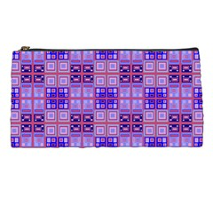 Mod Purple Pink Orange Squares Pattern Pencil Cases