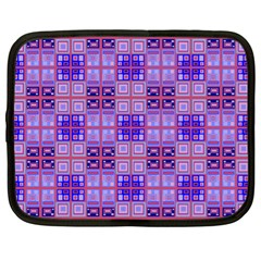 Mod Purple Pink Orange Squares Pattern Netbook Case (xl)