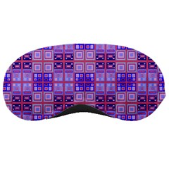Mod Purple Pink Orange Squares Pattern Sleeping Masks