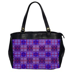 Mod Purple Pink Orange Squares Pattern Oversize Office Handbag