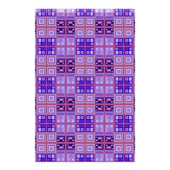 Mod Purple Pink Orange Squares Pattern Shower Curtain 48  X 72  (small)