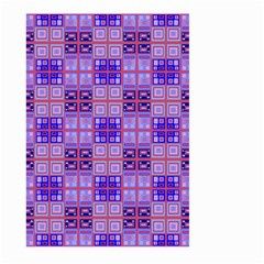 Mod Purple Pink Orange Squares Pattern Large Garden Flag (two Sides) by BrightVibesDesign