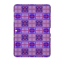 Mod Purple Pink Orange Squares Pattern Samsung Galaxy Tab 2 (10 1 ) P5100 Hardshell Case  by BrightVibesDesign