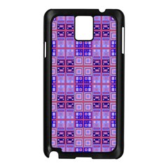 Mod Purple Pink Orange Squares Pattern Samsung Galaxy Note 3 N9005 Case (black) by BrightVibesDesign