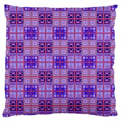 Mod Purple Pink Orange Squares Pattern Large Flano Cushion Case (one Side)