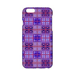 Mod Purple Pink Orange Squares Pattern Apple Iphone 6/6s Hardshell Case