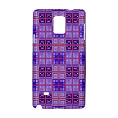 Mod Purple Pink Orange Squares Pattern Samsung Galaxy Note 4 Hardshell Case