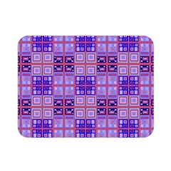 Mod Purple Pink Orange Squares Pattern Double Sided Flano Blanket (mini)