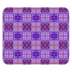 Mod Purple Pink Orange Squares Pattern Double Sided Flano Blanket (small)