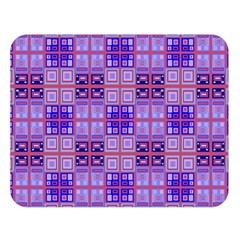 Mod Purple Pink Orange Squares Pattern Double Sided Flano Blanket (large)