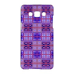 Mod Purple Pink Orange Squares Pattern Samsung Galaxy A5 Hardshell Case
