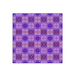Mod Purple Pink Orange Squares Pattern Satin Bandana Scarf
