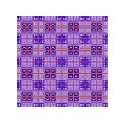 Mod Purple Pink Orange Squares Pattern Small Satin Scarf (square)