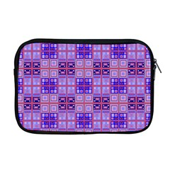Mod Purple Pink Orange Squares Pattern Apple Macbook Pro 17  Zipper Case by BrightVibesDesign