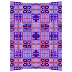 Mod Purple Pink Orange Squares Pattern Back Support Cushion