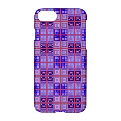 Mod Purple Pink Orange Squares Pattern Apple Iphone 8 Hardshell Case