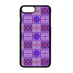 Mod Purple Pink Orange Squares Pattern Apple Iphone 8 Plus Seamless Case (black)