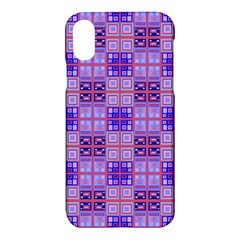 Mod Purple Pink Orange Squares Pattern Apple Iphone X Hardshell Case