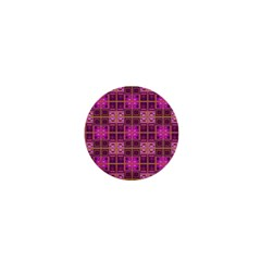 Mod Pink Purple Yellow Square Pattern 1  Mini Magnets