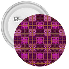 Mod Pink Purple Yellow Square Pattern 3  Buttons
