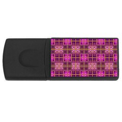Mod Pink Purple Yellow Square Pattern Rectangular Usb Flash Drive