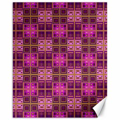 Mod Pink Purple Yellow Square Pattern Canvas 16  X 20