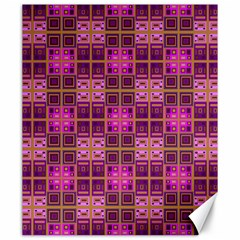 Mod Pink Purple Yellow Square Pattern Canvas 20  X 24