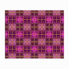 Mod Pink Purple Yellow Square Pattern Small Glasses Cloth (2 Side)