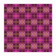 Mod Pink Purple Yellow Square Pattern Medium Glasses Cloth
