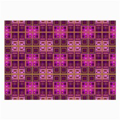 Mod Pink Purple Yellow Square Pattern Large Glasses Cloth