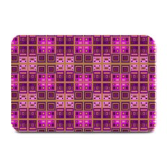 Mod Pink Purple Yellow Square Pattern Plate Mats