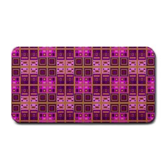 Mod Pink Purple Yellow Square Pattern Medium Bar Mats