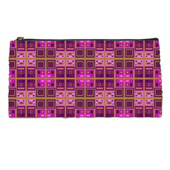 Mod Pink Purple Yellow Square Pattern Pencil Cases