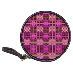 Mod Pink Purple Yellow Square Pattern Classic 20 Cd Wallets