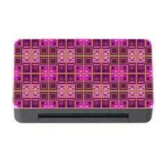 Mod Pink Purple Yellow Square Pattern Memory Card Reader With Cf