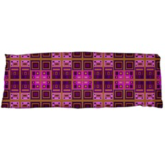 Mod Pink Purple Yellow Square Pattern Body Pillow Case (dakimakura)