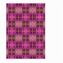 Mod Pink Purple Yellow Square Pattern Large Garden Flag (two Sides)