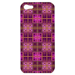 Mod Pink Purple Yellow Square Pattern Apple Iphone 5 Hardshell Case