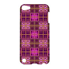 Mod Pink Purple Yellow Square Pattern Apple Ipod Touch 5 Hardshell Case